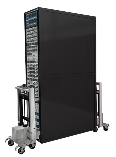 RackLift – the professional data center relocation tool to lift fully loaded cabinets.