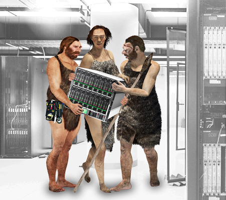 Caveman In Data Center