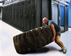 Server Lifting manually is no different than lifting heavy machinery tires