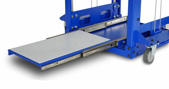 RackLift with extending tray table